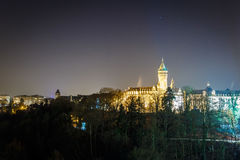 Petrusse valley in the night, Luxembourg. Europe Stock Photos