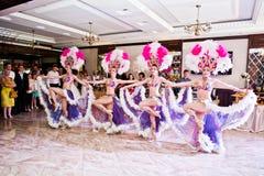 Petryky, de Oekraïne - Mei 14, 2016: De dans toont ballet in huwelijkspa Royalty-vrije Stock Foto's