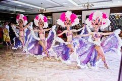 Petryky, de Oekraïne - Mei 14, 2016: De dans toont ballet in huwelijkspa Royalty-vrije Stock Afbeelding