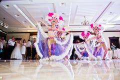 Petryky, de Oekraïne - Mei 14, 2016: De dans toont ballet in huwelijkspa Royalty-vrije Stock Fotografie