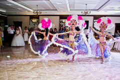 Petryky, Ucrania - 14 de mayo de 2016: Ballet de la demostración de la danza en casarse el PA Foto de archivo libre de regalías