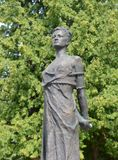 Monument Zoya Kosmodemyanskaya. Soviet partisan and a Hero of the Soviet Union awarded posthumously. She one of the most revered Royalty Free Stock Photography