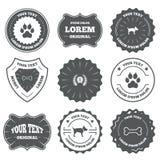 Pets ícones Pata do gato com sinal das embreagens ilustração royalty free