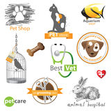 Pets значки Стоковое Фото