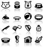 Pets. (domestic) animals icons set Stock Photo