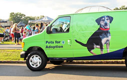 Pets For Adoption. Mt. Pleasant Animal Shelter, a non- profit organization for pets adoption in NJ, participates in Livingston fifth annual National Night Out Stock Photography