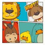 Pets and animals cartoons Stock Image