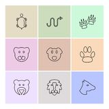 Pets , animals , wild, birds ,insects , eps icons set. Pets , animals , wild, birds , bear , lion , paw , hunting , insects , eagle , hawk , cocroaches , pig royalty free illustration