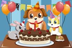 Pets birthday royalty free illustration