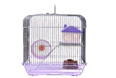Pets cage on a white background. Pets cage. Isolated on a white Stock Photo