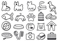 Pets care icon set Stock Photos