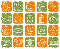 Pets care icon set Stock Images