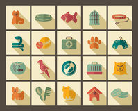 Pets care icon set Stock Photo
