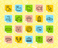 Pets care stickers Stock Photos