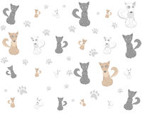 Pets cartoon dog pattern vector Royalty Free Stock Images