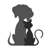 Pets cat and dog,  illustration. On the image presented Pets cat and dog,  illustration Royalty Free Stock Photos