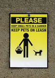 Pets caution icon Stock Images