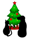 Pets Christmas. Is original artwork. The vector file is in AI-EPS8 format