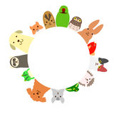 Pets circle Royalty Free Stock Photography
