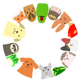 Pets circle Royalty Free Stock Photos