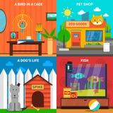 Pets Concept Set Stock Photos