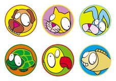Pets a cor dos ícones Fotografia de Stock Royalty Free