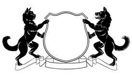 Pets Crest Coat of Arms Heraldic Shield Stock Image