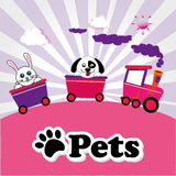 Pets. Design  over purple  background vector illustration Royalty Free Stock Photography