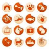 Pets etiquetas Imagem de Stock