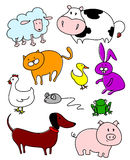 Pets and farm Royalty Free Stock Images