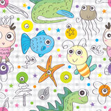 Pets Funky Seamless Pattern_eps Royalty Free Stock Images