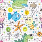 Pets Funky Seamless Pattern_eps. Illustration of fauna and flora funky seamless pattern. --- This .eps file info Version: Illustrator 8 EPS Document: 5 * 5 vector illustration