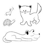 Pets - hand drawn Stock Images
