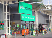 Pets at home storefront. Pets at home shop front in Kempston, Beds, UK. Pets at home have 279 stores in the UK and is the largest chain of pet shops. The shops Royalty Free Stock Photo