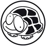 Pets icon turtle b&w Stock Photo