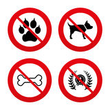 Pets icons. Cat paw with clutches sign Royalty Free Stock Image