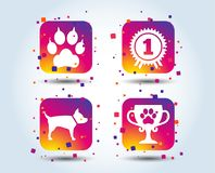 Pets icons. Cat paw with clutches sign. royalty free illustration
