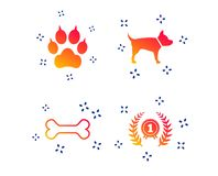 Pets icons. Cat paw with clutches sign. Vector stock illustration