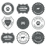 Pets icons. Cat paw with clutches sign Stock Photography