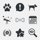 Pets icons. Cat paw with clutches sign. Royalty Free Stock Image