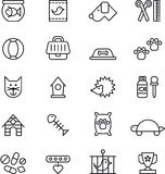 Pets icons Stock Photography
