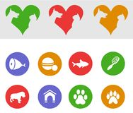 Pets-icons Stock Photo