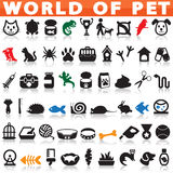 Pets icons Royalty Free Stock Image