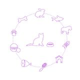 Pets icons set Royalty Free Stock Photo