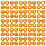 100 pets icons set orange. 100 pets icons set in orange circle isolated on white vector illustration vector illustration