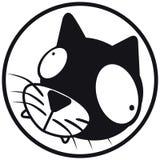 Pets il b&w del gatto dell'icona Immagini Stock Libere da Diritti