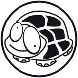 Pets il b&w della tartaruga dell'icona Fotografia Stock