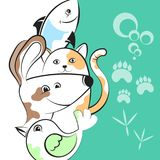 Pets illustration for business Stock Photo