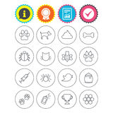 Pets and Insect icon. Dog, Cat paw with clutches. royalty free illustration