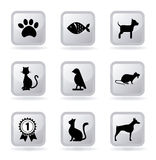 Pets le icone Immagini Stock